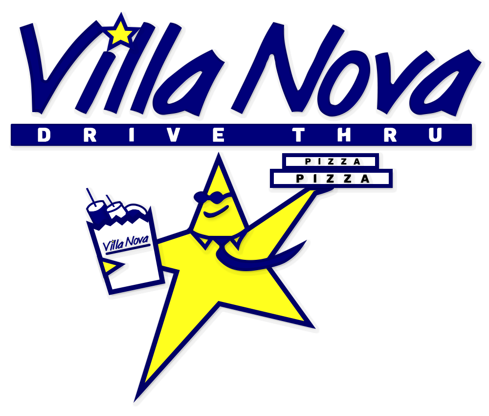 Villa Nova Drive Thru Logo Outlined